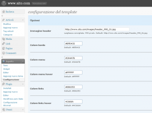 template blog personalizzato