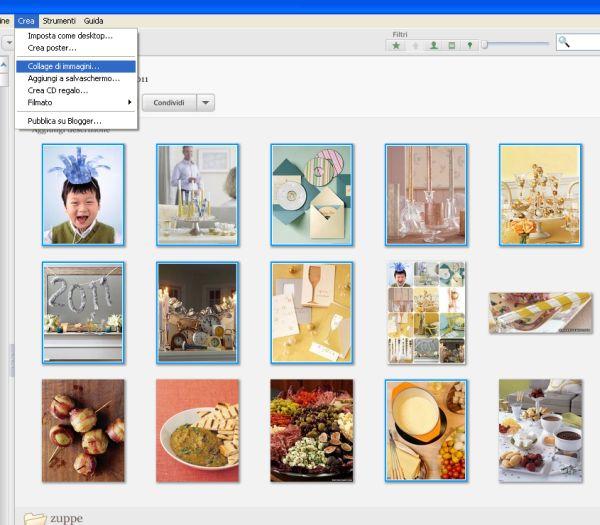 Creare collage di foto con Picasa