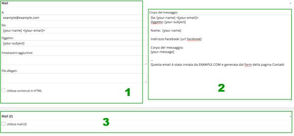 Schermata Mail